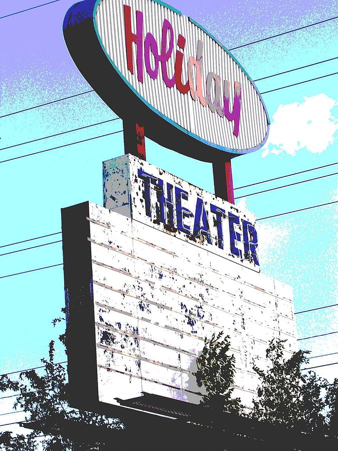 Theater Photograph - Holiday Drive In by Audrey Venute