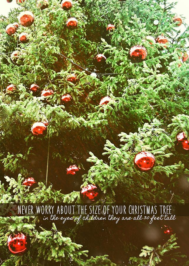 Snowman Photograph - Holiday Garnish Quote by JAMART Photography
