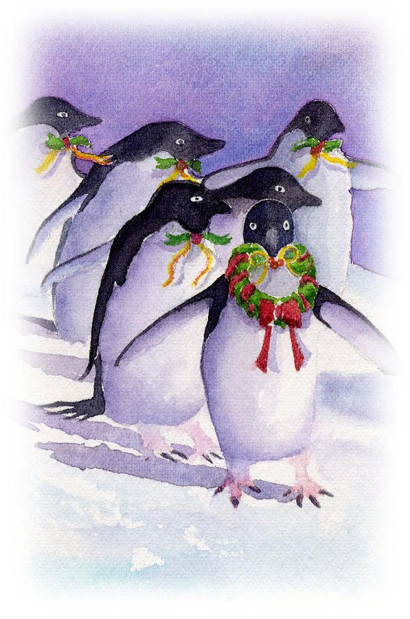 Holiday Penguins by Debbie Lewis