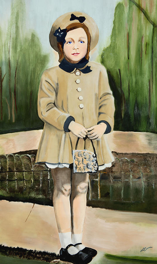 Child Painting - Holiday Remembrance by Lottiemae Littlefield