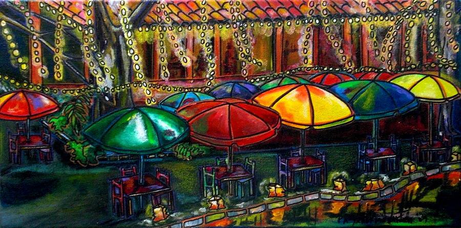 San Antonio Painting - Holiday Riverwalk by Patti Schermerhorn