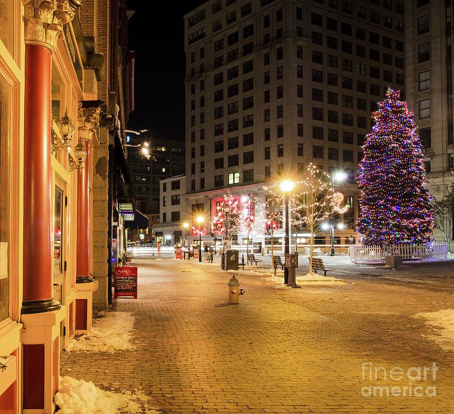 Portland Maine Christmas.Holiday Scene Portland Maine 94575