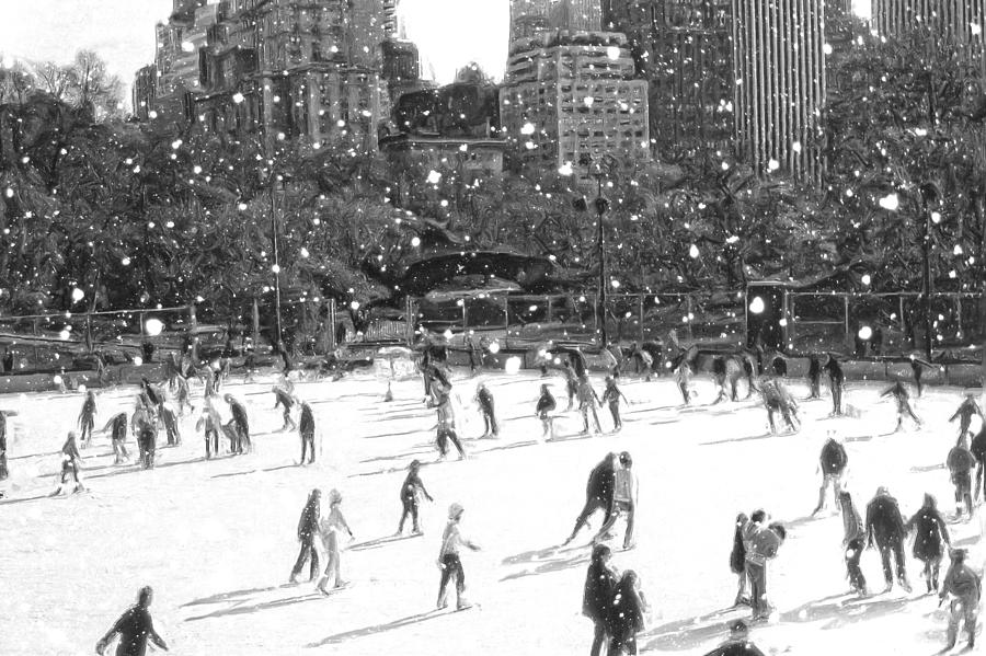 Holiday Skaters by Russ Considine