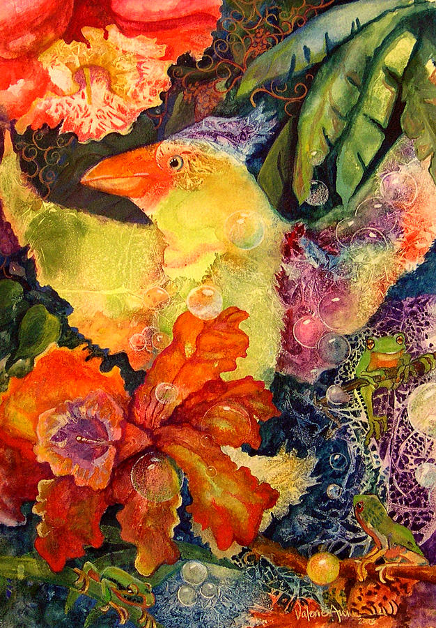 Bird Painting - Holiday by Valerie Aune