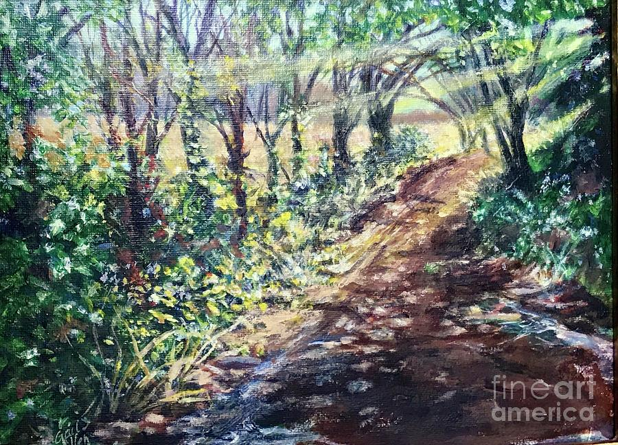 Hollis Road with Puddles by Gail Allen