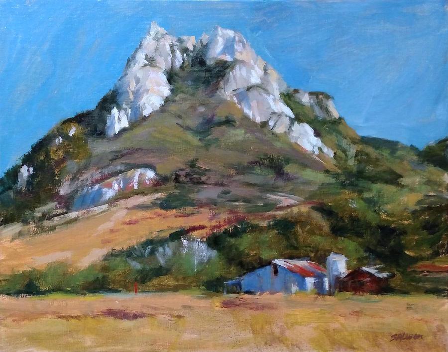 California Painting - Hollister Peak by Peter Salwen