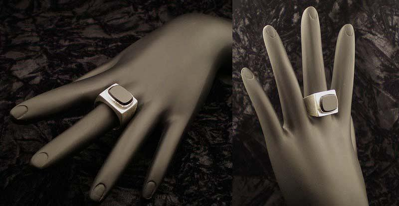 Silver Jewelry - Hollow Form Ring by Mitzi Reynolds