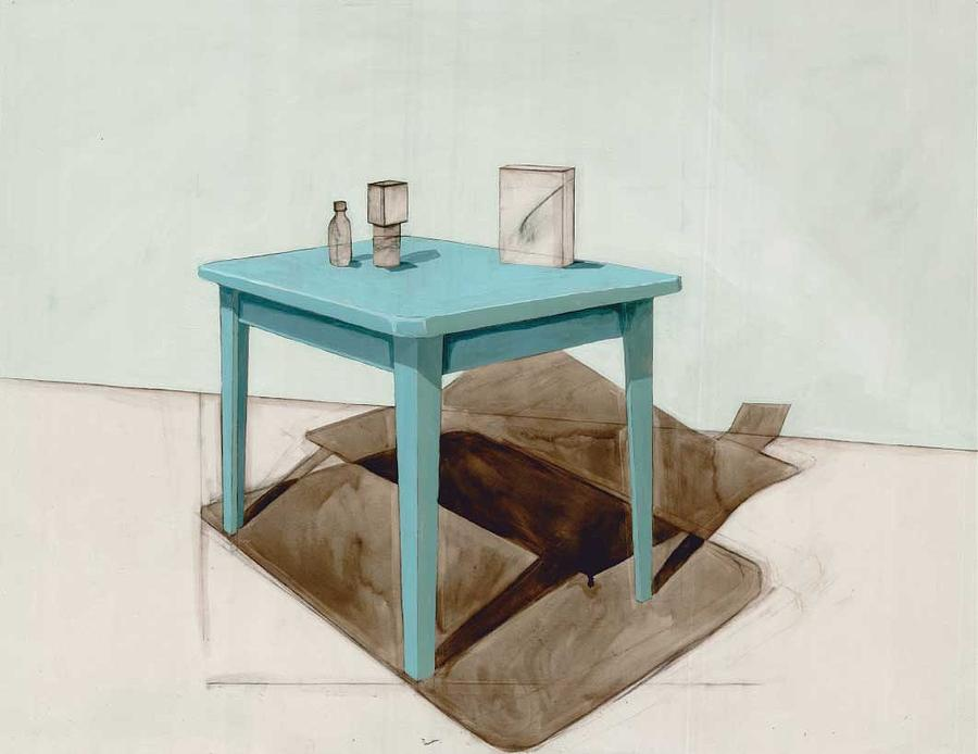 Table Painting - Hollow Still Life 1 by Adrienne Romine