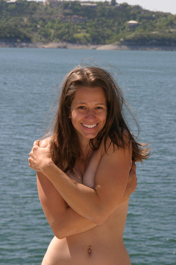A lake Female nude in