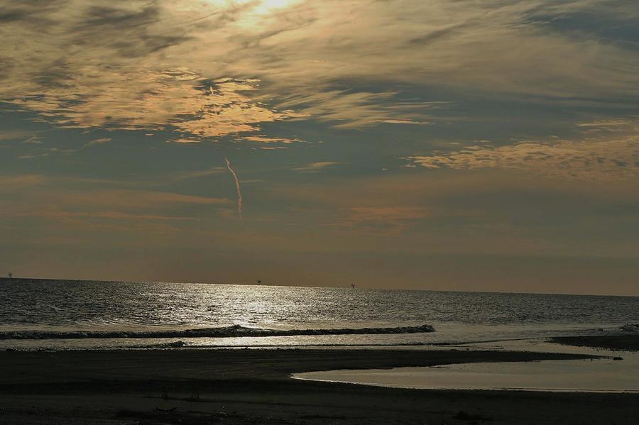 Holly Beach Sunset Photograph by Janie Fontenot