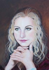 Portrait Painting - Holly by Cynthia Ablicki