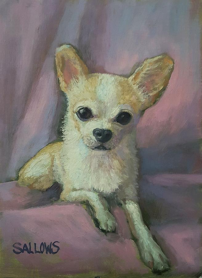 Chihuahua Painting - Holly the Chihuahua by Nora Sallows