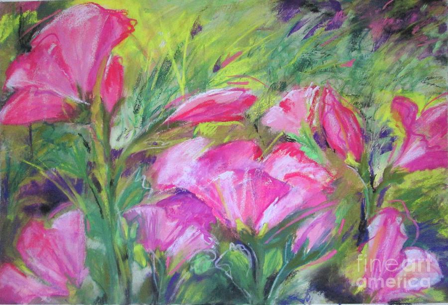 Hollyhock Painting - Hollyhock Breeze by Susan Herbst