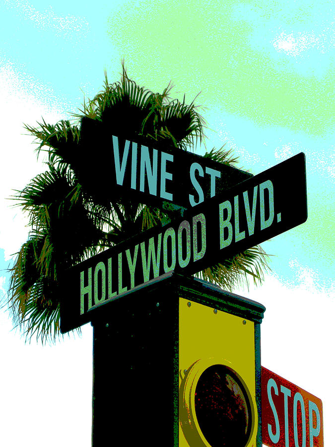 Signs Photograph - Hollywood And Vine by Audrey Venute