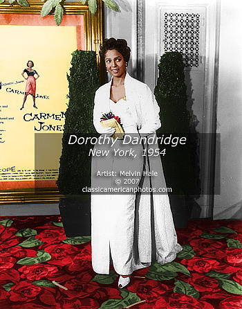 Actress Painting - Hollywood Art Entitled Dorothy Dandridge New York C1954 by Melvin Hale