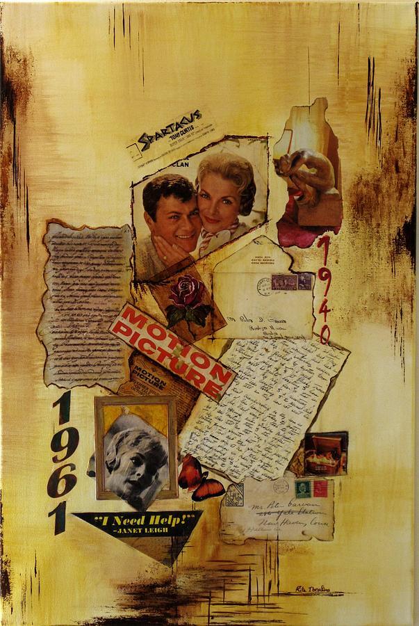 Mixed Media Painting - Hollywood by Rita  Ibrahim