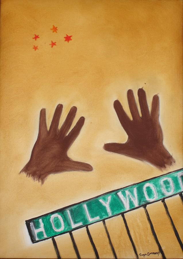 Cinema Film Painting - Hollywood by Roger Cummiskey
