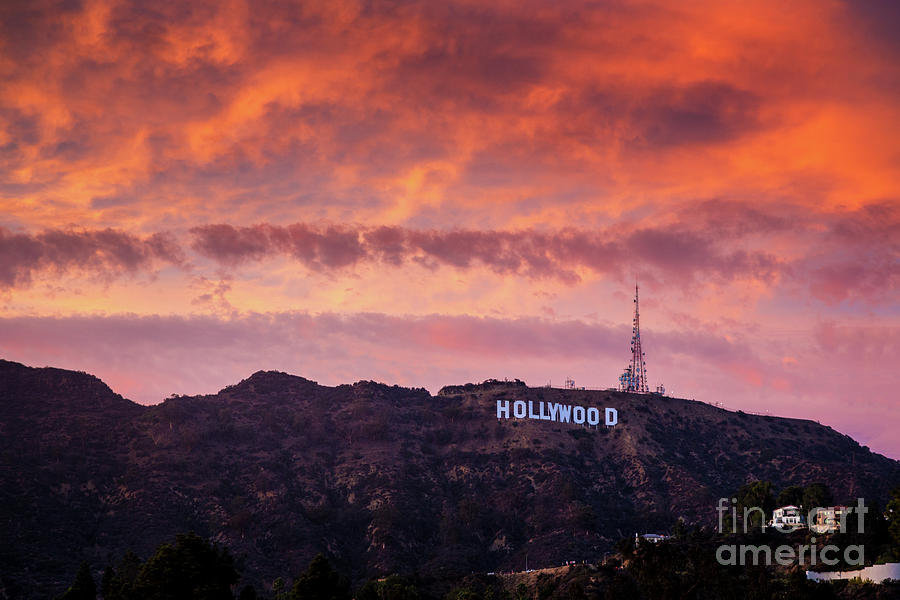 Hollywood Sign At Sunset Photograph by Konstantin Sutyagin