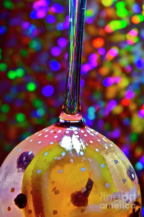 Holographic Fruit Drop Photograph