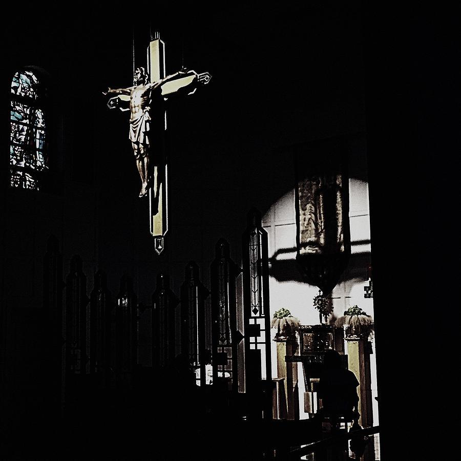 Cross Photograph - Holy Adoration by Frank J Casella