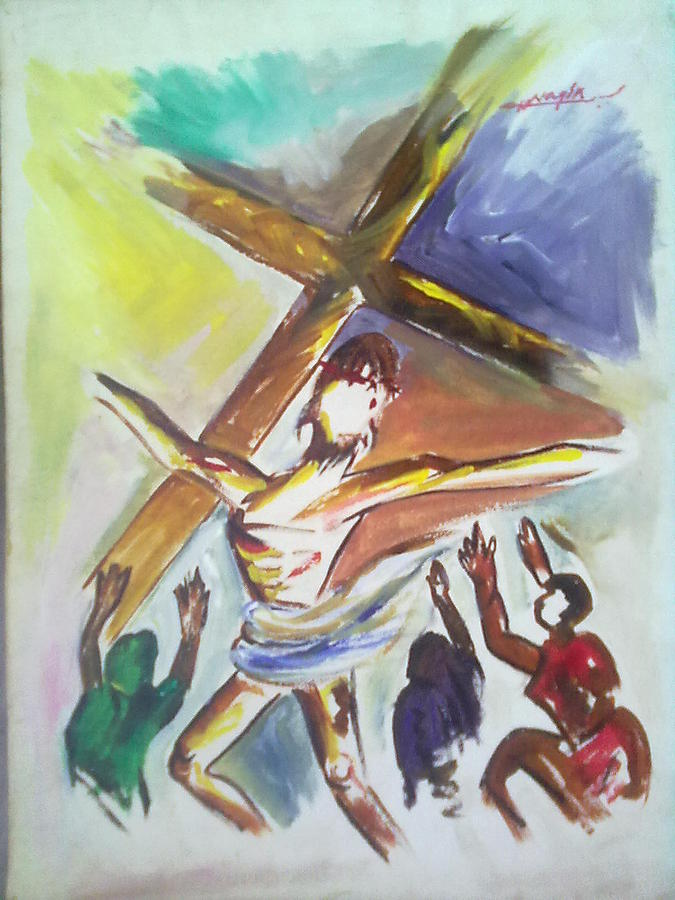 Figurative Painting - Holy Creest by Nagin Bangaru
