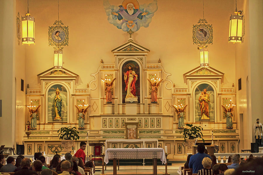 Church Photograph - Sacred Heart Cathedral - El Paso by Allen Sheffield