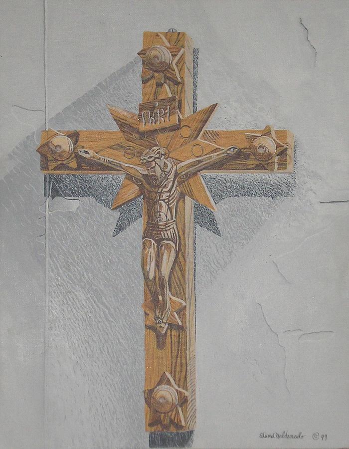 Realism Painting - Holy Cross by Edward Maldonado