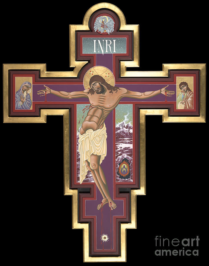 Jesus Painting - Holy Cross of the New Advent 162 by William Hart McNichols