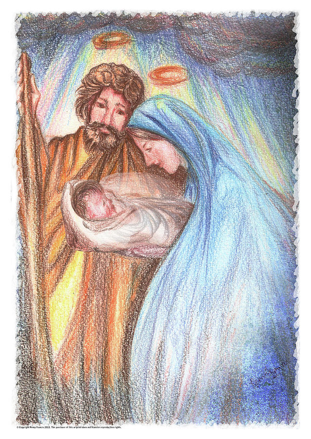 Holy Family Painting - Holy Family - Christian - Catholic Painting by Remy Francis