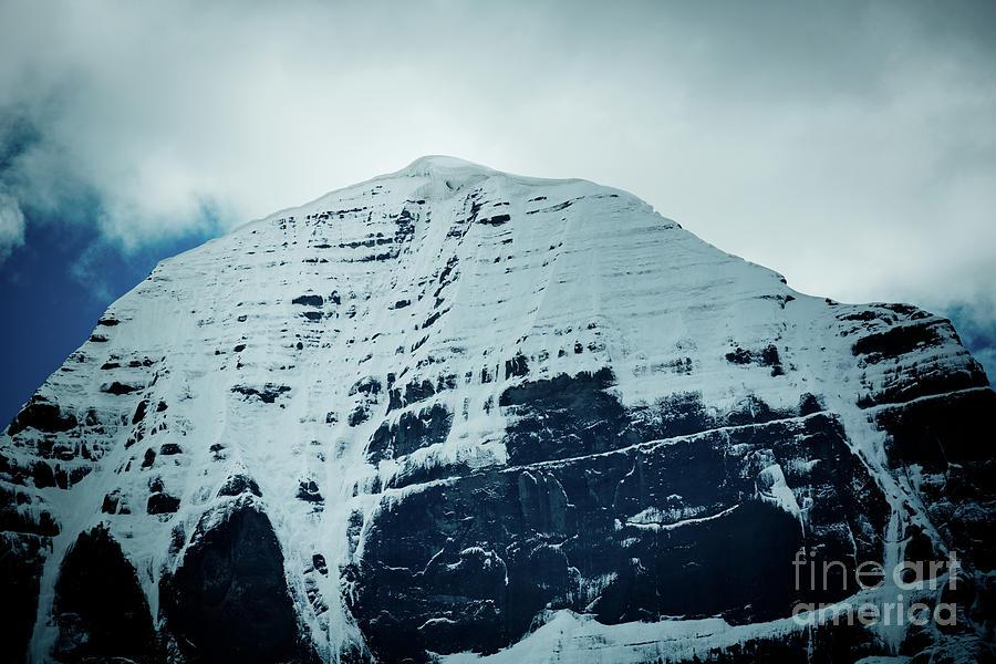 Tibet Photograph - Holy Kailas North Slop Fragment Himalayas Tibet Yantra.lv by Raimond Klavins