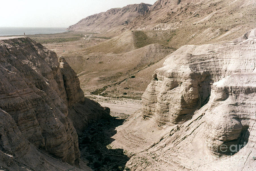 Ancient Photograph - Holy Land: Qumran Caves by Granger