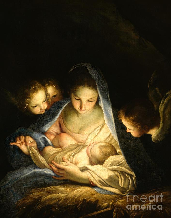 Madonna Painting - Holy Night by Carlo Maratta