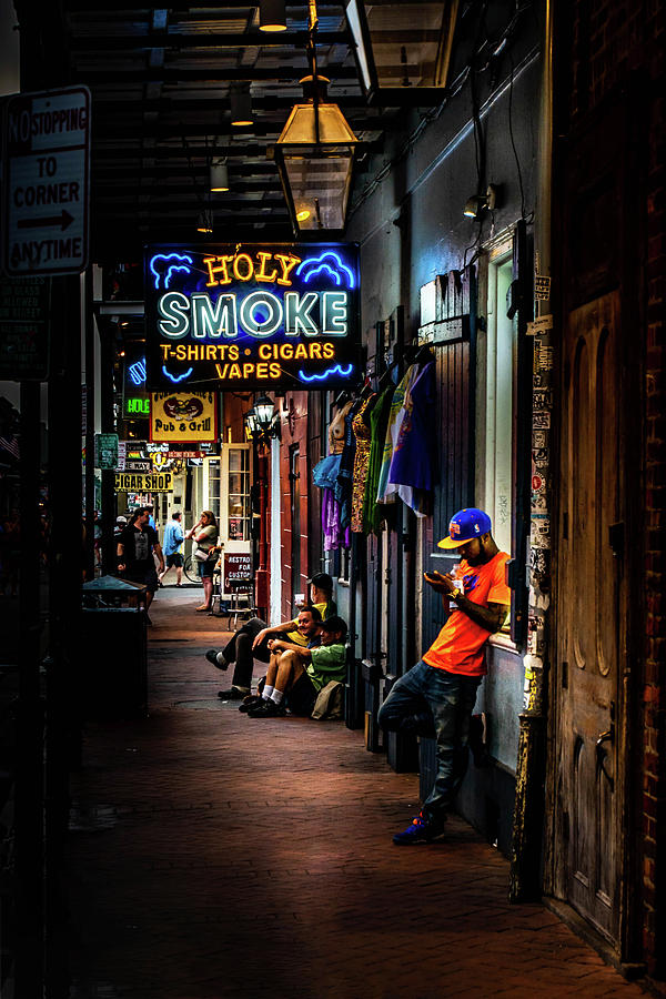 Holy Smoke Bourbon Street Photograph by Greg Mimbs