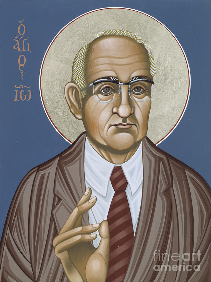 Icon Painting - Holy Theologian Hans Urs Von Balthasar 110 by William Hart McNichols