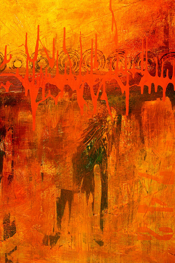 Holy War Abstract Painting Painting by Nancy Merkle - photo #33