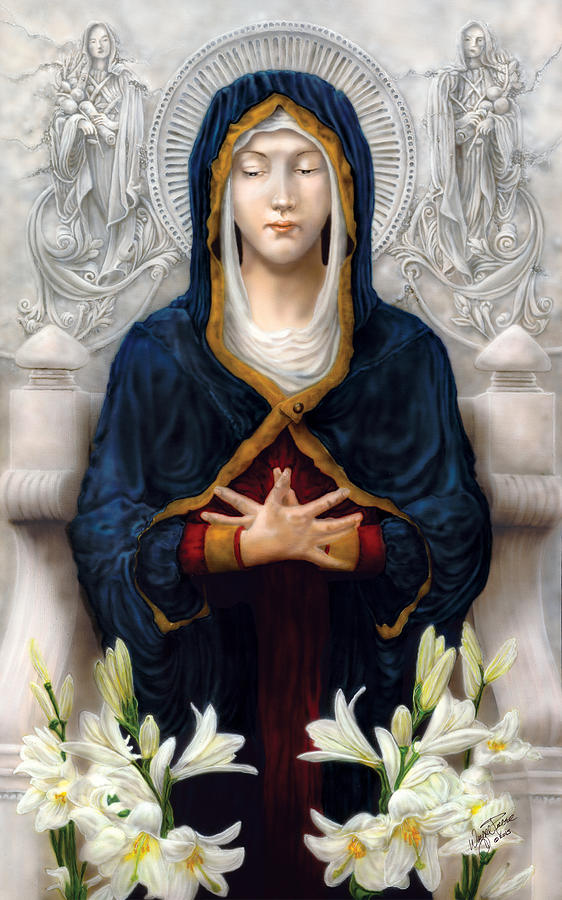 Woman Painting - Holy Woman by Wayne Pruse