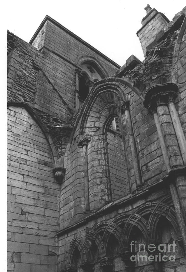 Scotland Photograph - Holyrood Abby Arches Detail by Steven  Godfrey
