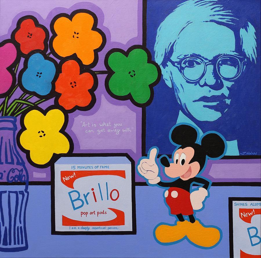 Original Painting - Homage To Andy Warhol by John  Nolan