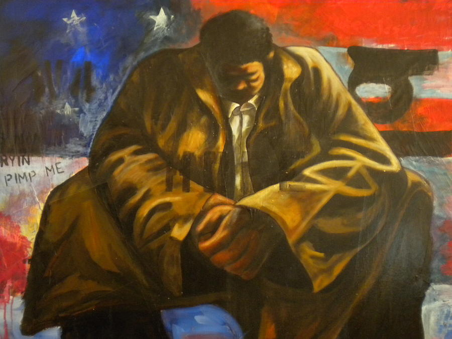 Black America Painting - Homage To Hopeful Jones by Devlin Culliver