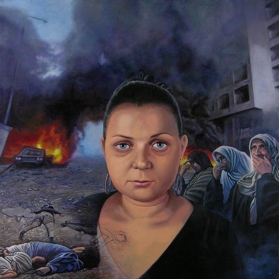 Lebanon Painting - Homage To Layal Nagib by Miguel Tio