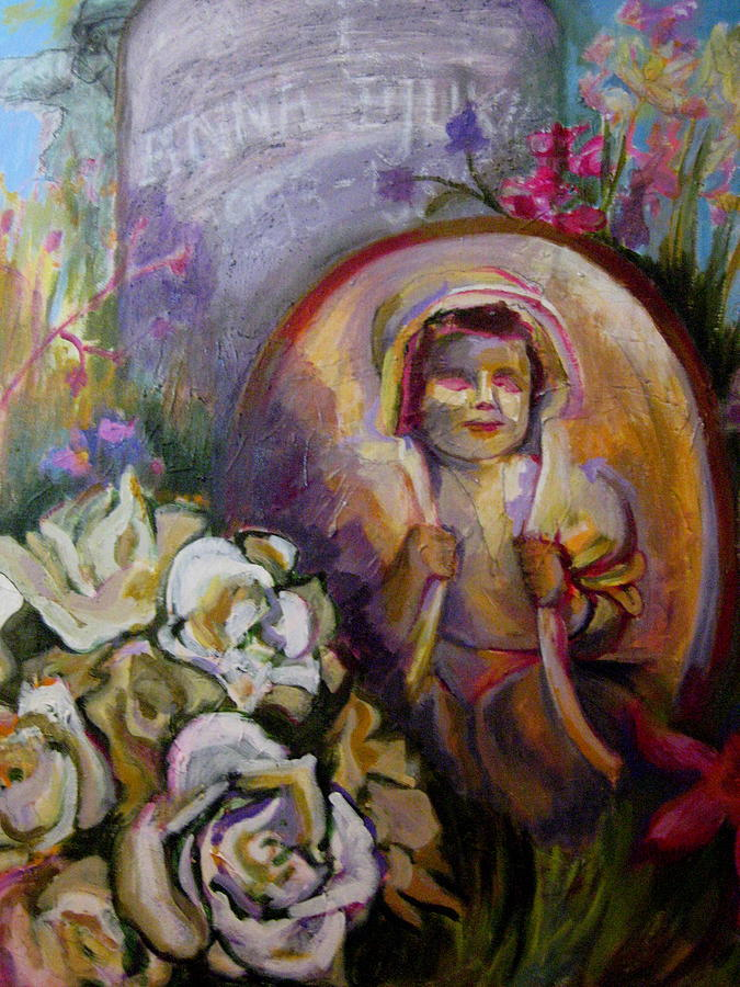 Flowers Painting - Homage To Lost Children by Connie Freid
