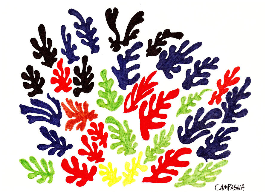 Marker Drawing - Homage To Matisse by Teddy Campagna