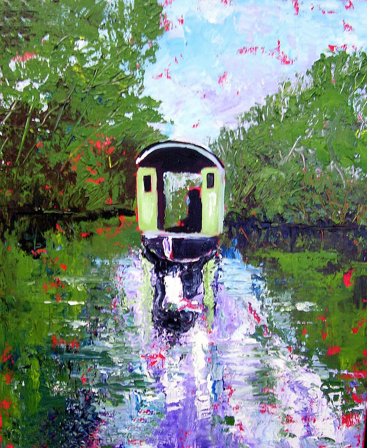 River Painting - Homage To Monet by Paul Sandilands