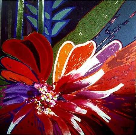 Flower Painting - Homage To My Father by Jose Miguel Perez Hernandez