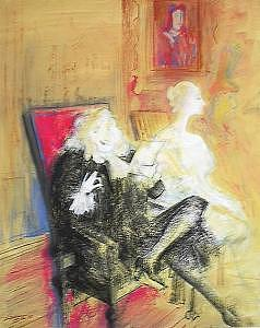Homage To Toulouse Lautrec Painting by Helmut  Preiss