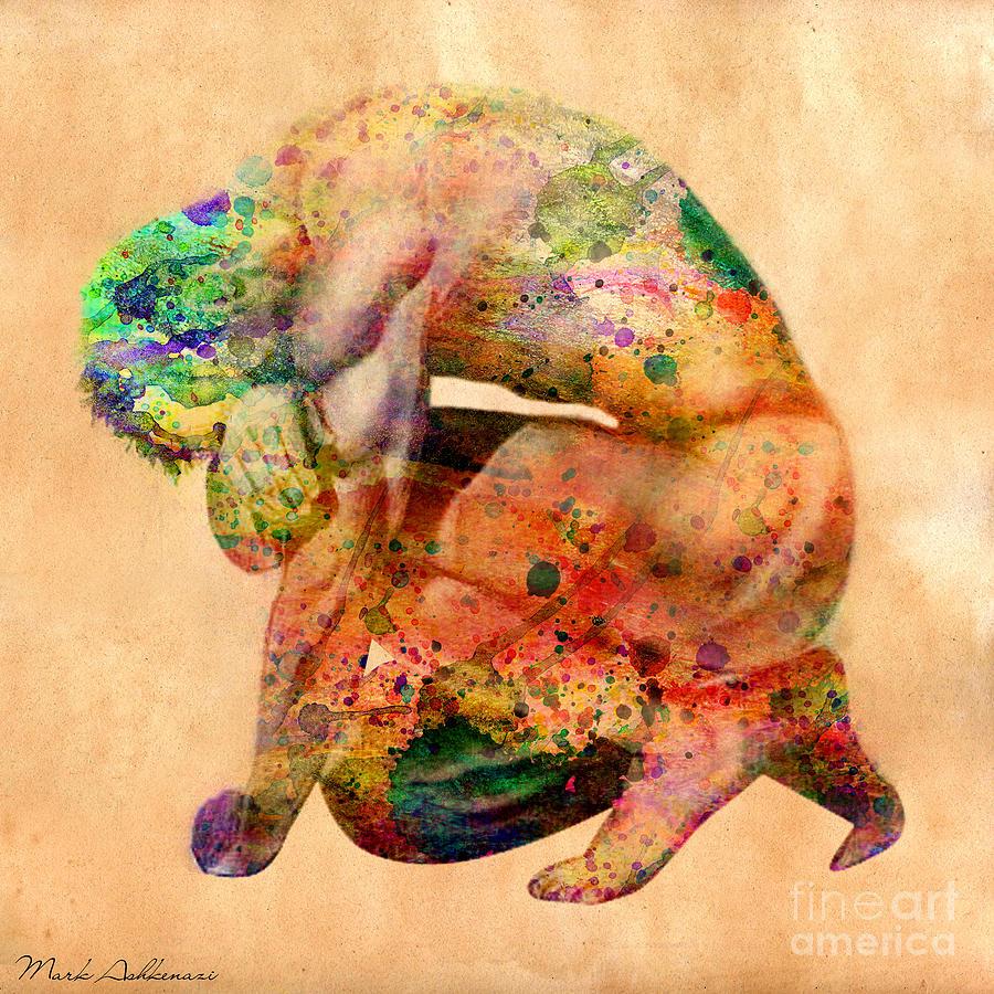 Male Nude  Digital Art - Hombre Triste by Mark Ashkenazi