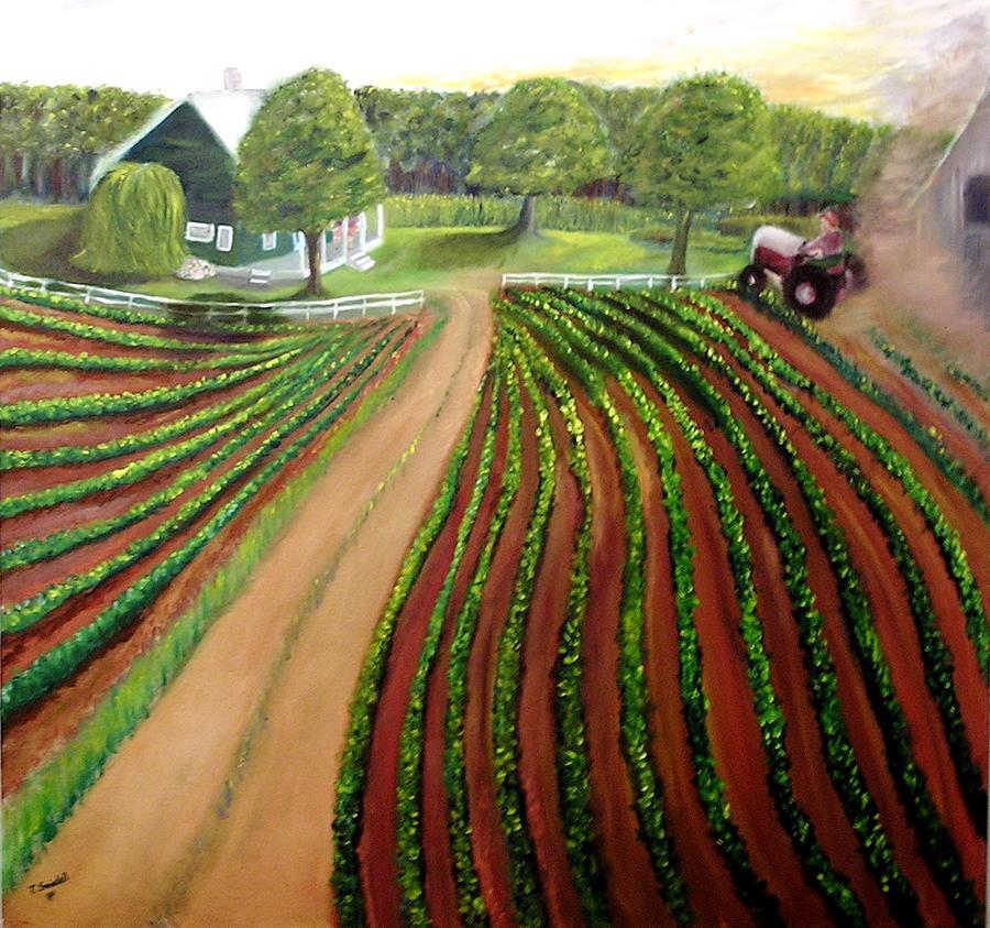 Farm Painting - Home Again by Tina Swindell