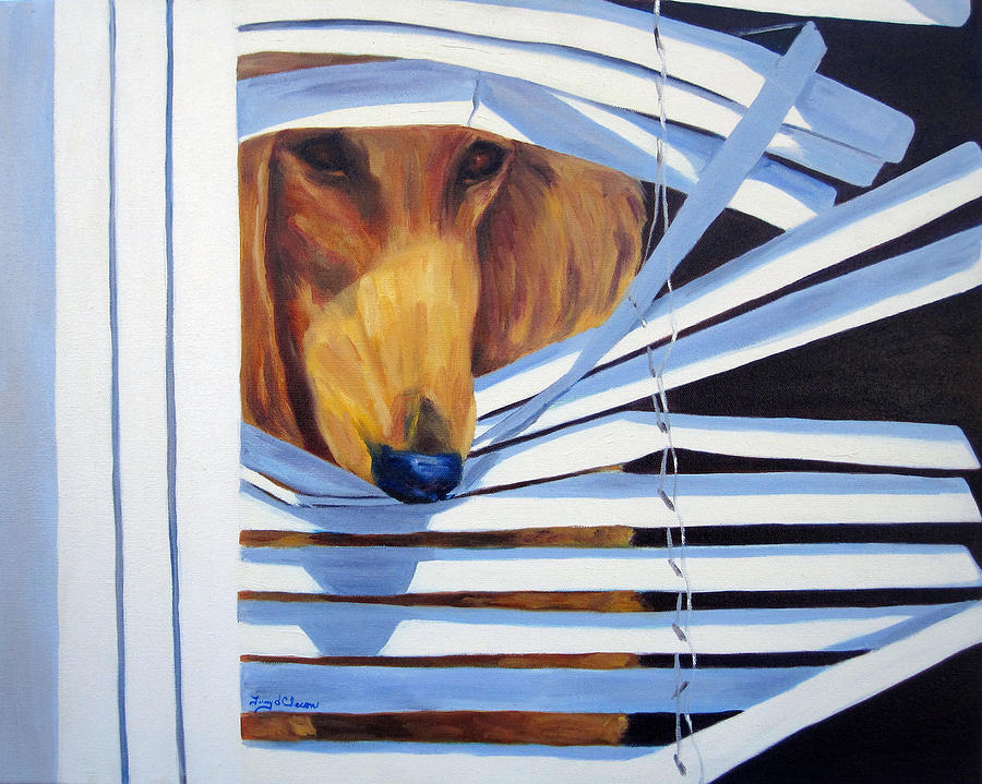 Afghan Hound Painting - Home Alone by Terry  Chacon