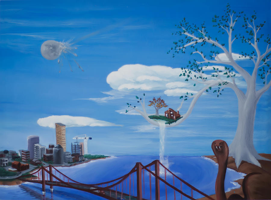 Surreal Painting - Home Away From Home by Brian Nunes