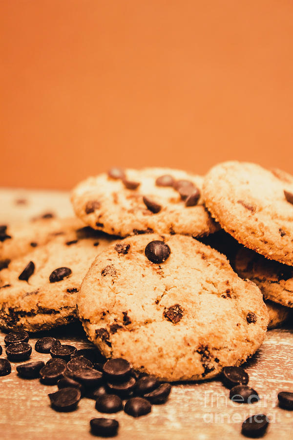Chocolate Photograph - Home Baked Chocolate Biscuits by Jorgo Photography - Wall Art Gallery